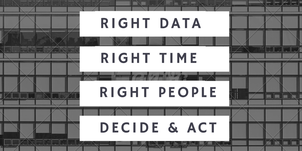 Right Data at the Right Time to the Right People