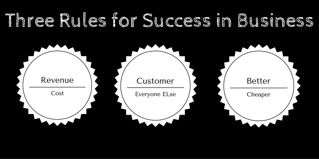 Three Rules for Success in Business