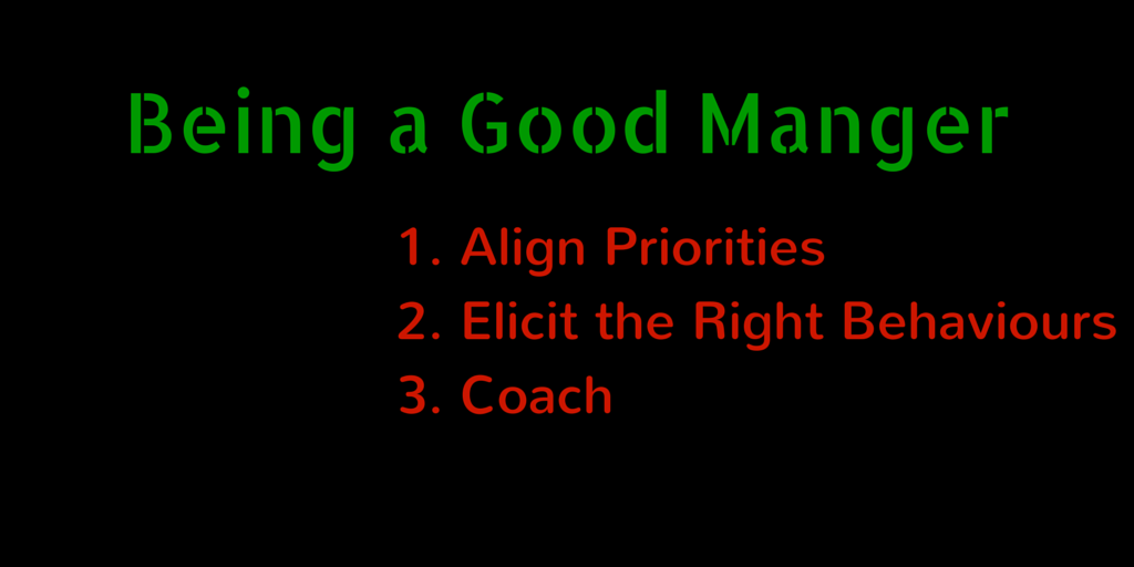 Being a Good Manager